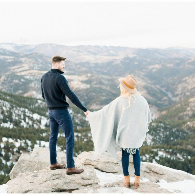 Couple in Boulder Colorado during their engagement session