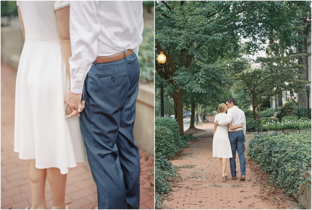 Fine art film engagement professional photographer by Decorus Photography