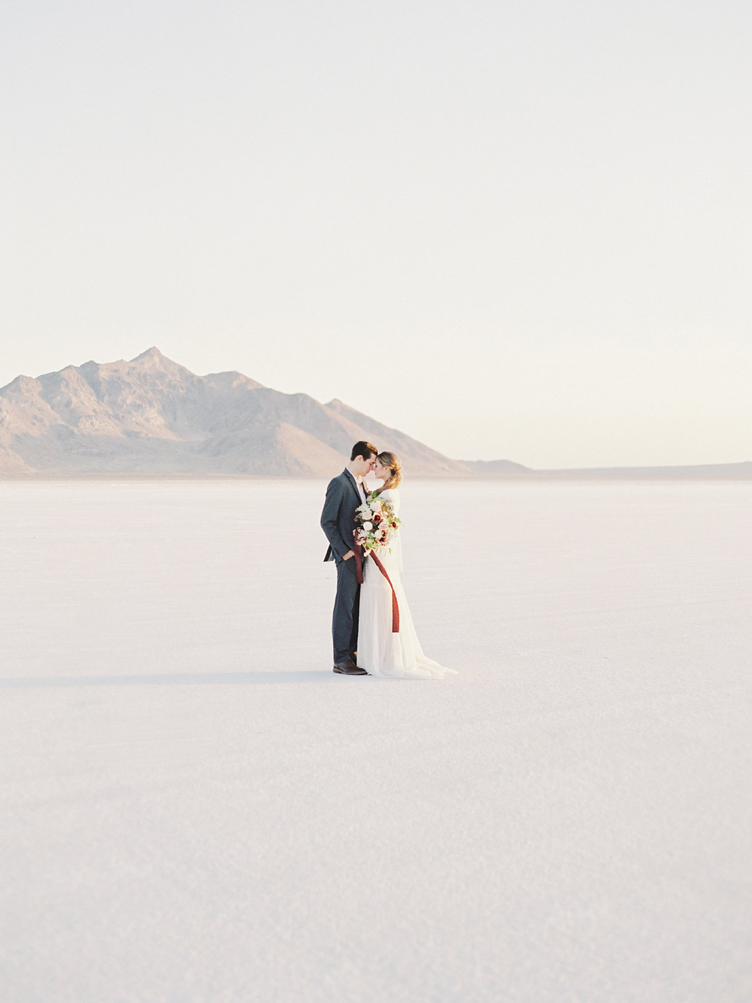Romantic Anniversary Session at the Salt Flats in Utah