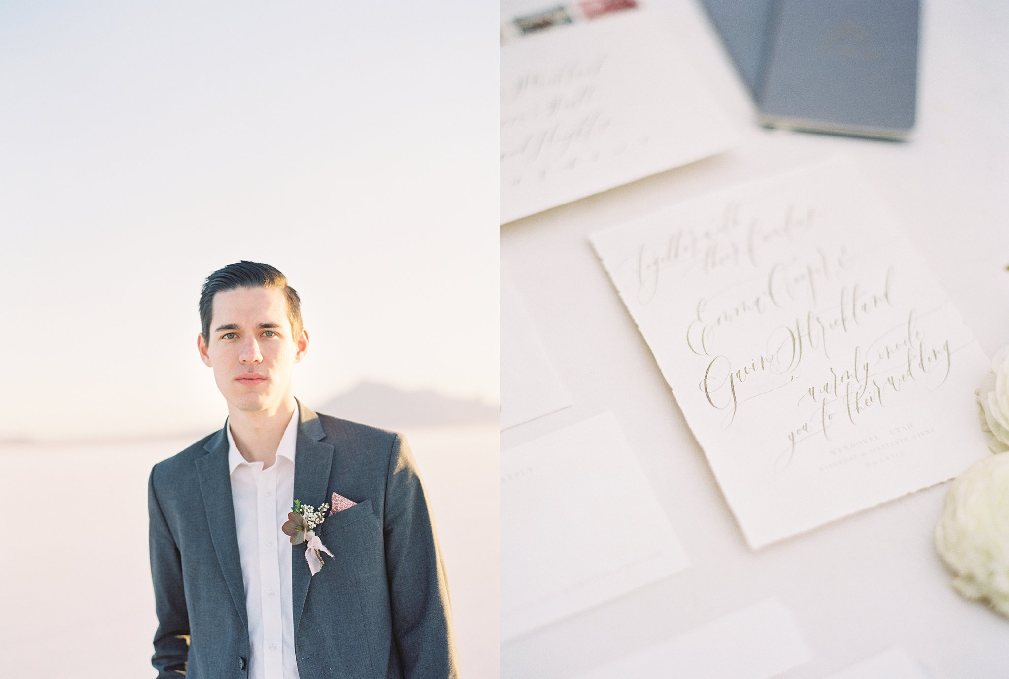 Romantic Anniversary Session on film with invitation suite by Custom Crafted