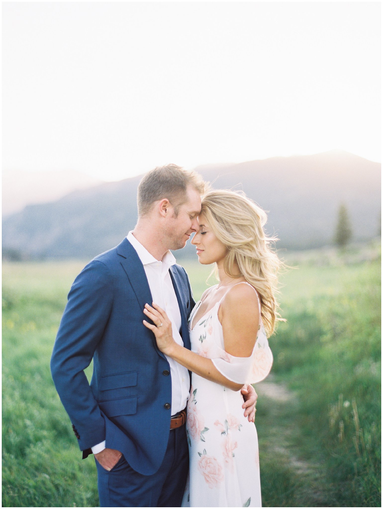 Couple Kissing during Rocky Mountain National Park Engagement Session