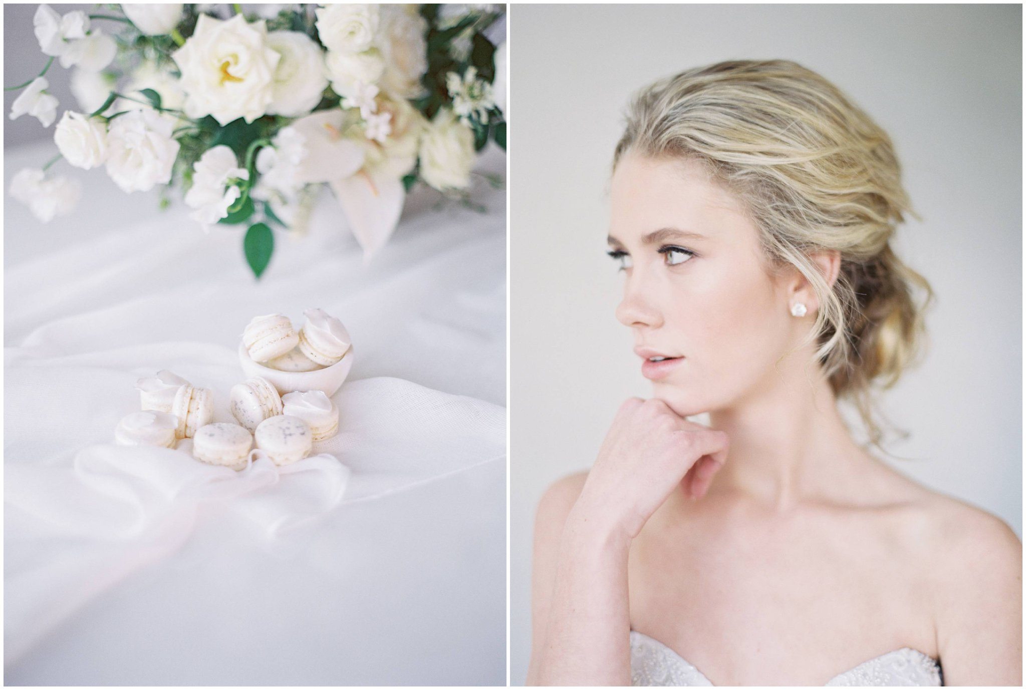 Fine Art Colorado Wedding Photography side by side photo of beautiful bridal editorial