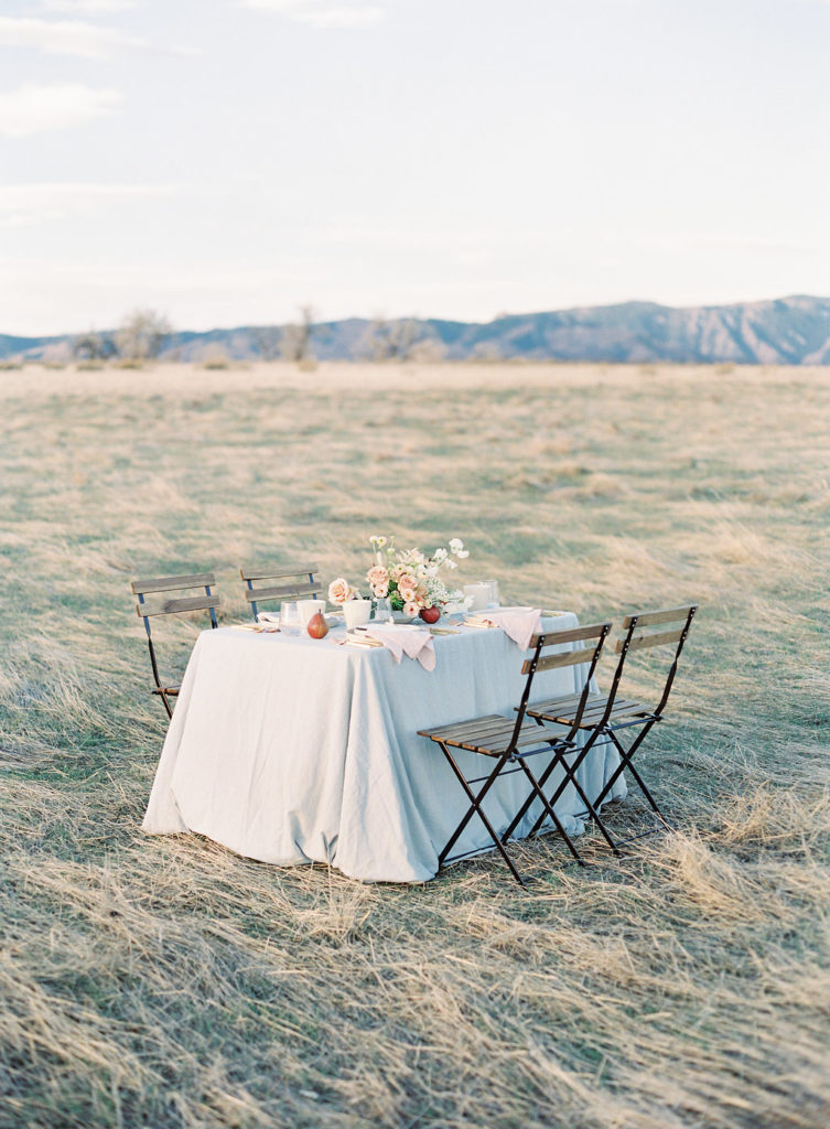 Colorado Romantic Spring Elopement spring tablescape
