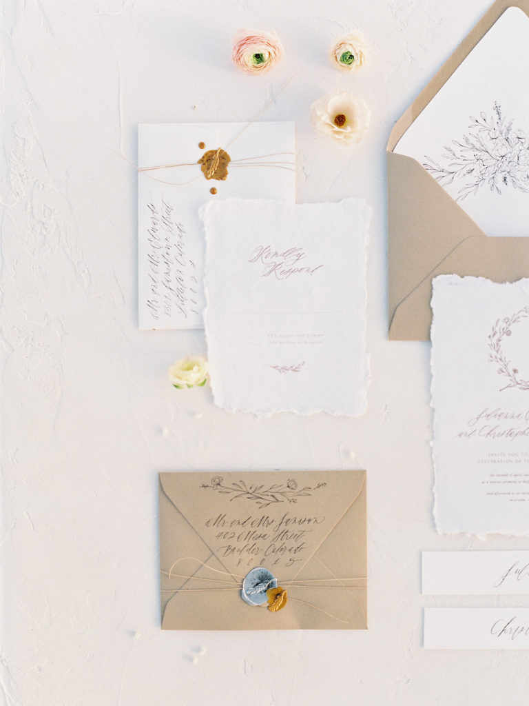 beautiful invitation suite by Sarah Ann Design