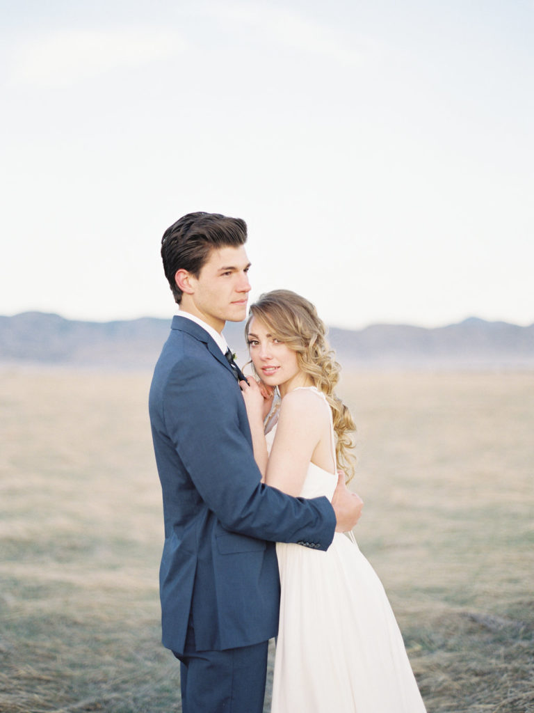 Colorado Romantic Spring Elopement groom holding bride