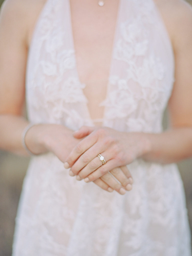 Beautiful engagement ring details from the diamond reserve photographed by Decorus photography during a Romantic Al Fresco Wedding Inspiration at Stonewall Farm