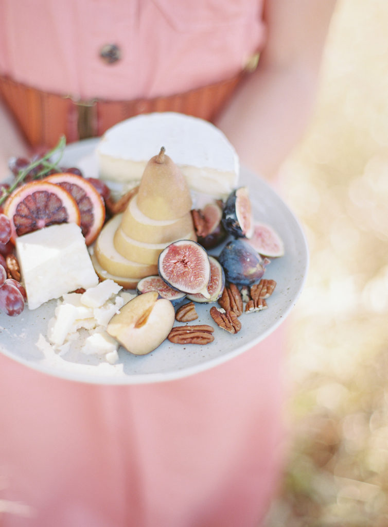 Rocky Mountain Catering plate of meats and cheeses photographed by Decorus photography during a Romantic Al Fresco Wedding Inspiration at Stonewall Farm